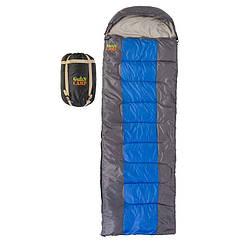 Спальник GreenCamp, ковдру, 450гр/м2, сірий-синій, GRC1009