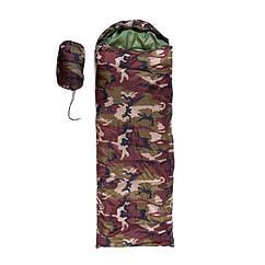 Спальник 250гр/м2, камуфляж коричневий, ковдру, (180+30)*75см
