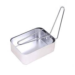 Посуда туристическая, алюминий (2 шт кастрюля-сковорода с ручками)