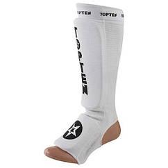 Защита ноги TopTen, эластан, белый, липучка, размер S, M, L, XL, mod. 1225TTW