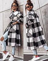 Жіночий стильний кашеміровий тренч на підкладці з поясом (Норма), фото 3