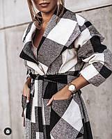Жіночий стильний кашеміровий тренч на підкладці з поясом (Норма), фото 4
