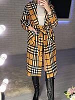Жіночий стильний кашеміровий тренч на підкладці з поясом (Норма), фото 6
