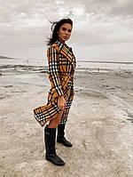 Жіночий стильний кашеміровий тренч на підкладці з поясом (Норма), фото 8