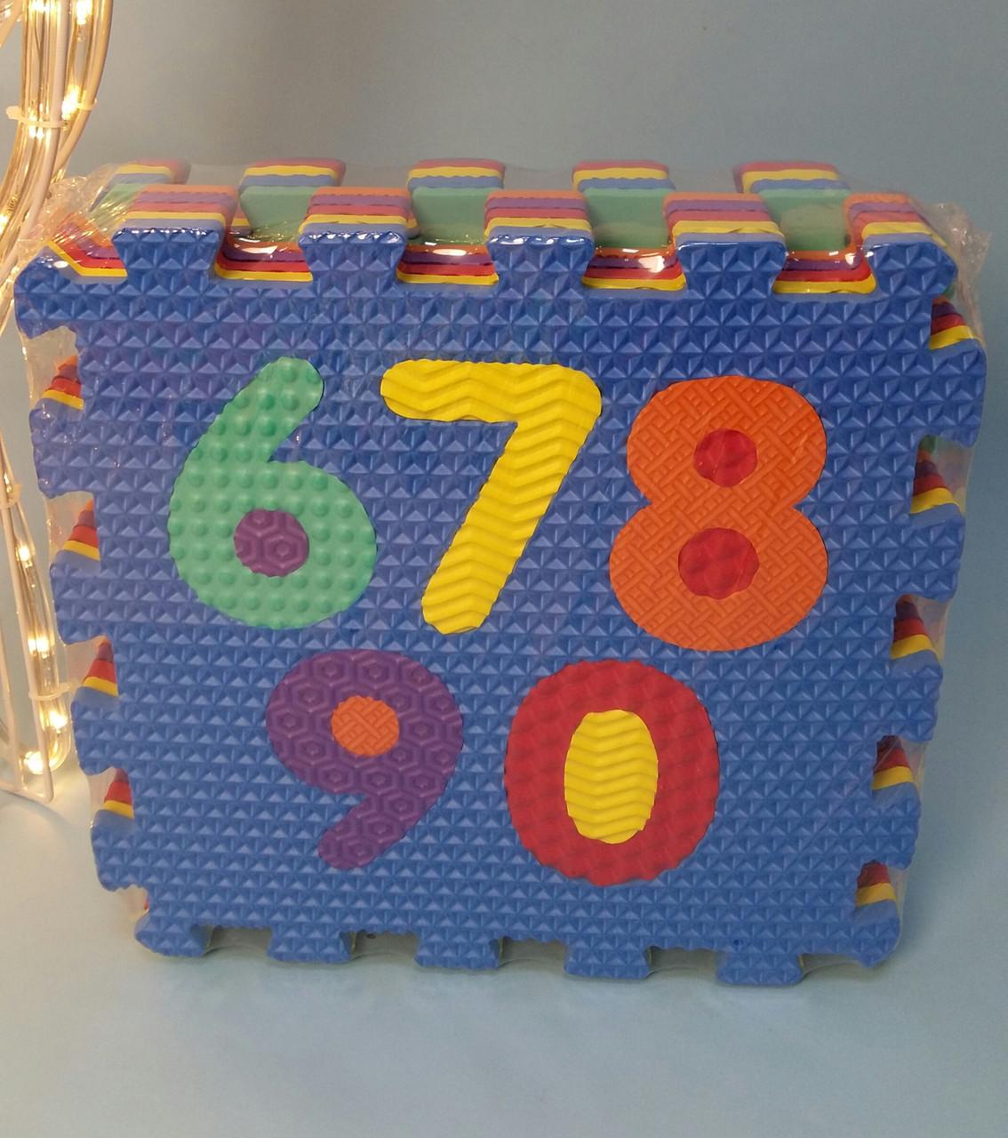 М'який килимок мозаїка пазли M 2609 Цифри