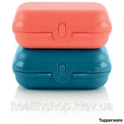 Ланч-бокс красный и синий Tupperware