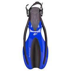 Ласти Dolvor F75 Professional M/L (40-44) синій. Знижка