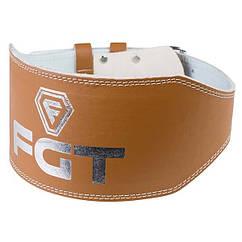 Пояс атлетический FGT широкий, PU, размер М, L, XL, 2XL, 3XL коричневый, F16025