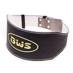 Пояс атлетический BWS широкий, PU, черный, размеры M, L, XL