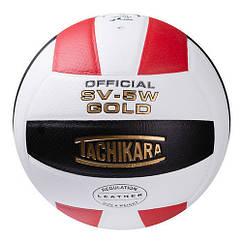 Мяч волейбольный Tachikara , бело/красно/черный. Скидка