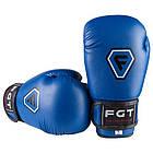 Боксерські рукавички CLUB FGT, Flex, 6oz, синій., фото 3