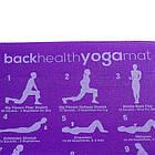 Йогамат, коврик для фитнеса, с рисунком 61*173*0,6см, PVC, фиолетовый. Скидка, фото 2