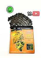 Цепь велосипедная КМС Z33, серебро на 6-ск. трансмиссию, фото 1