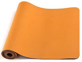 Килимок для йоги LiveUp TPE Yoga Mat Orange (LS3237-04o), фото 3