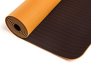 Килимок для йоги LiveUp TPE Yoga Mat Orange (LS3237-04o), фото 2