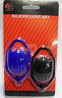 Силиконовые мигалки  на велосипед JY-267-3, комплект 2шт
