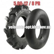 Покришки 5.00-12 з камерою для мотоблоків, 8 PR (шарів)