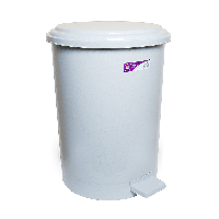 Ведро для мусора с педалью Irak Plastik №4 35л серое
