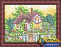 Схема для вышивки бисером - Домик с садом, Арт. ПБп4-043