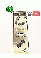 Ланцюг КМС Z99, 9 швидкостей, велоцепь з замком, сіра, в прямокутній картонній коробці., фото 1