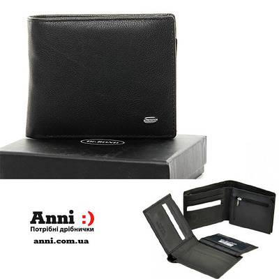 Черный кожаный мужской кошелек портмоне на магнитах DR. BOND MSM-4 black
