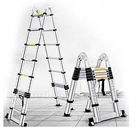 Лестница алюминиевая телескопическая раскладная Stanley 3.2 метра 3032