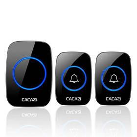 Бездротовий дверний дзвінок з 2-ма кнопками виклику Cacazi A21 Чорний КОД: 100369