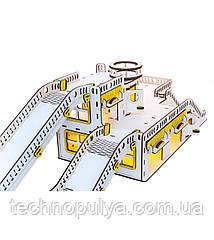 Гараж для машинок GoodPlay 32х57х27 см Гоночная база с подсветкой (G002)