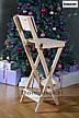 Для кофейни. Стул для визажиста складной. Барный складной высокий стул., фото 4