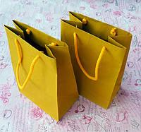 Пакет паперовий 150х90х200 жовтий