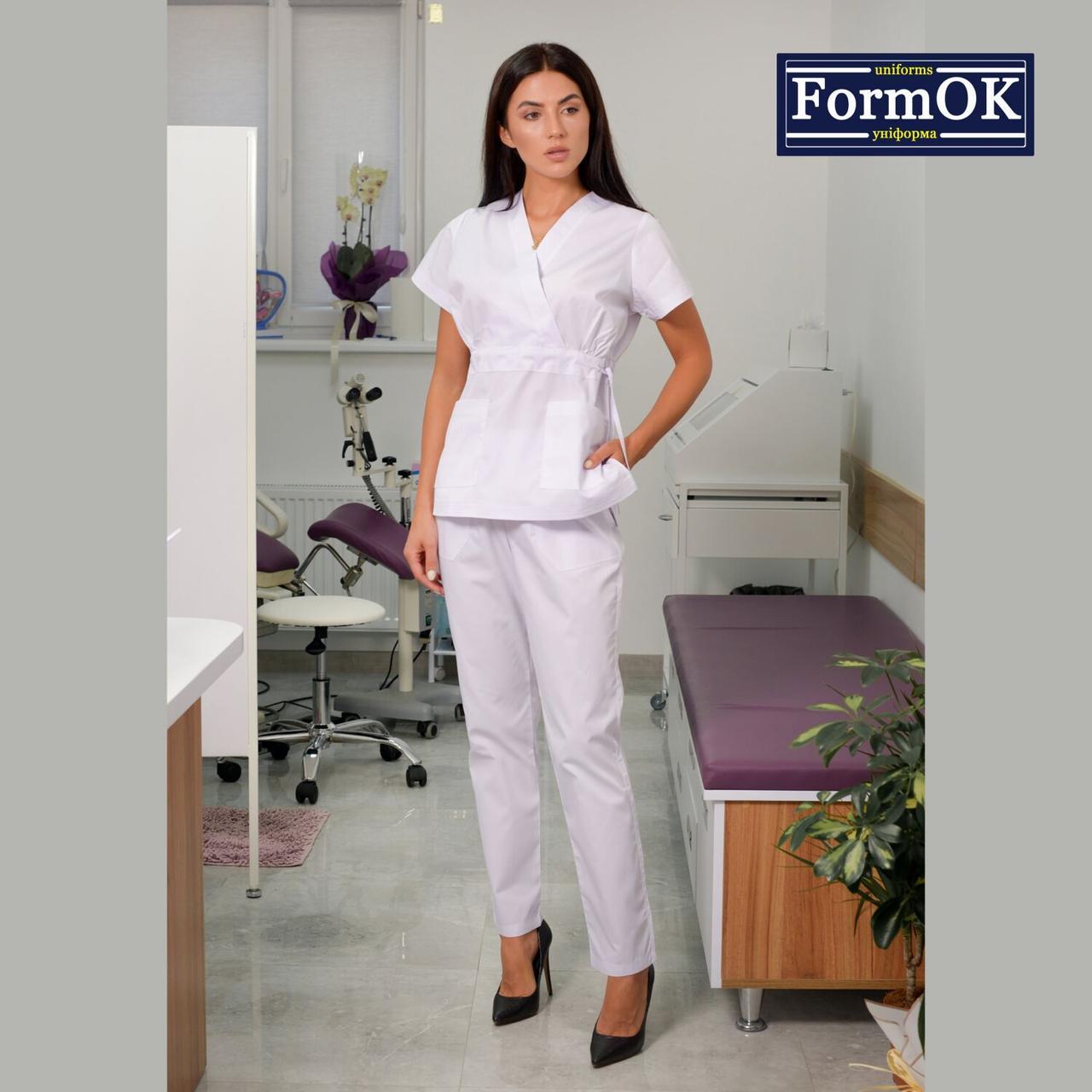 Женские медицинские костюмы Эдельвика белый 48