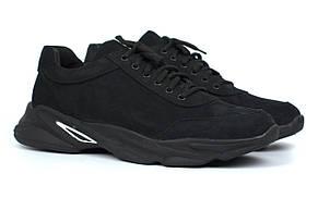 Кроссовки мужские из нубука мягкая обувь больших размеров Rosso Avangard Ada Black NUB BS