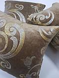 Комплект подушек зеленый с золотым вензелем, 4шт, фото 2