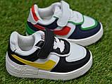 Дитячі кросівки для хлопчика Nike білі р21-26, копія, фото 2