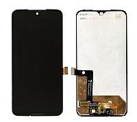 Дисплей (екран) для Motorola XT1962 Moto G7/XT1965 Moto G7 Plus + тачскрін, чорний, оригиал