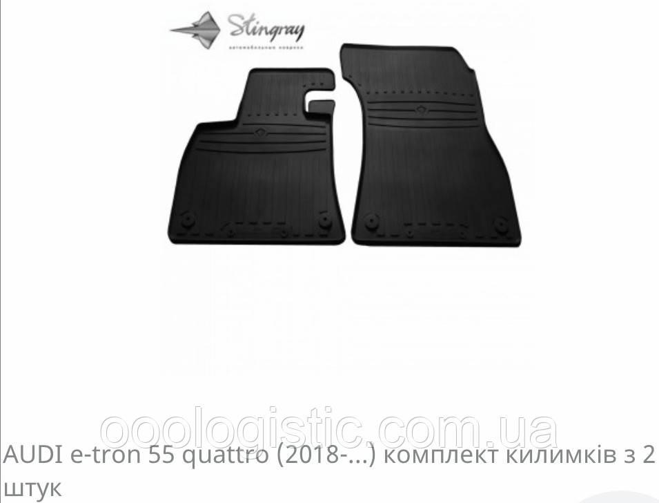 Автоковрики на Ауді e-tron 55 guattro 2018> Stingray гумові 2 штуки