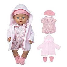Набор одежды для кукол 43 см комбинезон пальто шапочка носки Baby Born