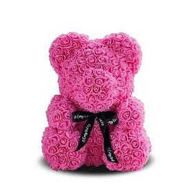 Мишко з 3D троянд Teddy 25 см Рожевий КОД: ave_arp195K1011140