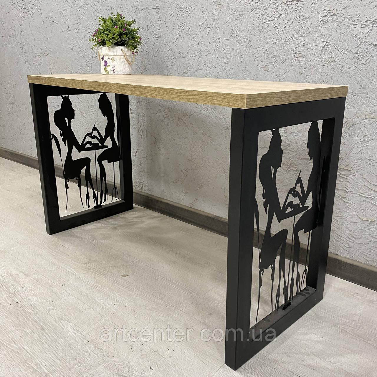 """Манікюрний стіл """"Лофт"""" для двох майстрів"""