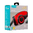 Беспроводные Bluetooth наушники Celebrat A4, (Красный), фото 7