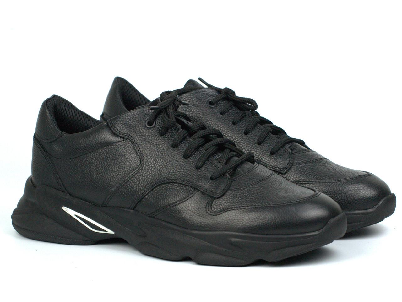 Кроссовки мужские кожаные черные демисезонная обувь Rosso Avangard ReBa Leather Floto