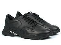 Кроссовки мужские кожаные черные демисезонная обувь Rosso Avangard ReBa Leather Floto, фото 1