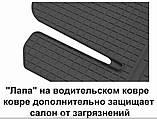 Автоковрики на Ауди Q3(8U) 2011-2019 Stingray резиновые 4 штуки, фото 4