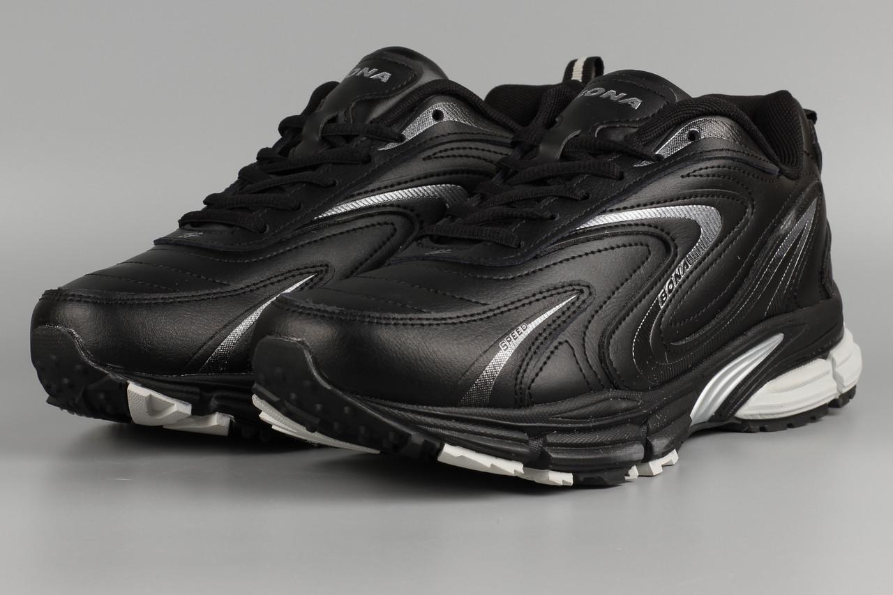 Кросівки чоловічі чорні Bona 808C Бона Розміри 41 42 43 45