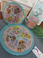 Набор детской посуды стекло Lol, фото 3