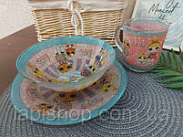 Набор детской посуды стекло Lol, фото 5
