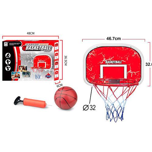 Баскетбольное кольцо MR 0331  кольцо щит 47-32см-пластик,сетка,мяч,насос,