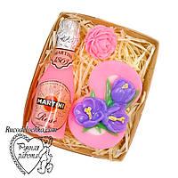 Мыло набор 8 марта, восьмерка, мартини, мини роза, подарок женщине, ручная работа