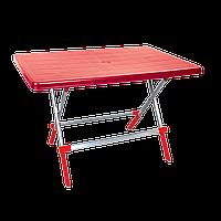 Стол складной Irak Plastik Delta 70x100 красный