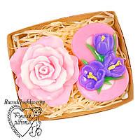 Мило набір 8 березня, вісімка, троянда, подарунок жінці, ручна робота